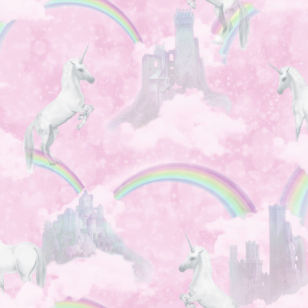 Albany I Believe In Unicorns Pink Wallpaper - Product code: 12480