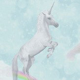 Albany I Believe In Unicorns Teal Wallpaper