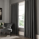 Studio G Elba Eyelet Curtains Steel Ready Made Curtains - Product code: M1104/04/46X5