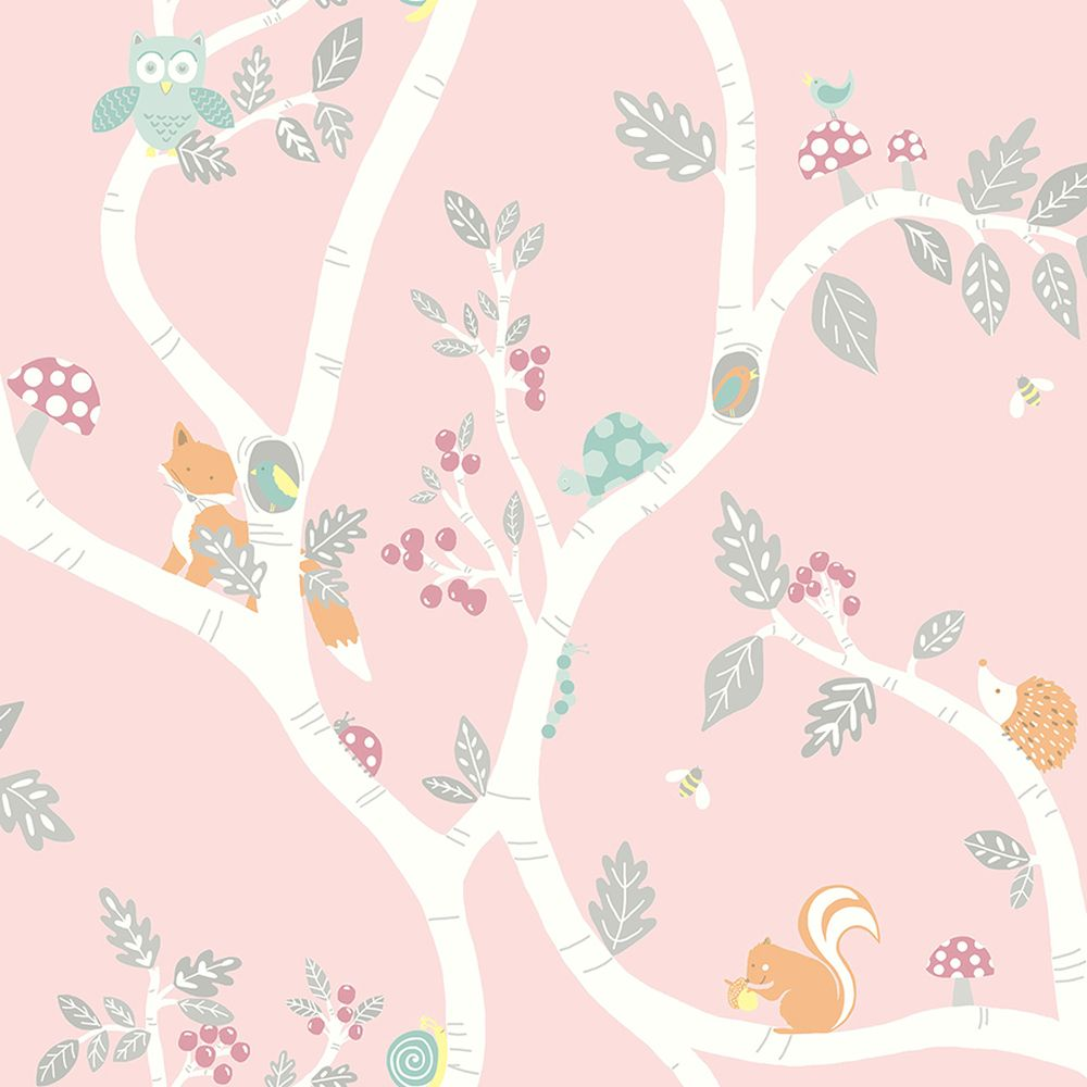 Albany Woodland Adventure Pink Wallpaper - Product code: 12492
