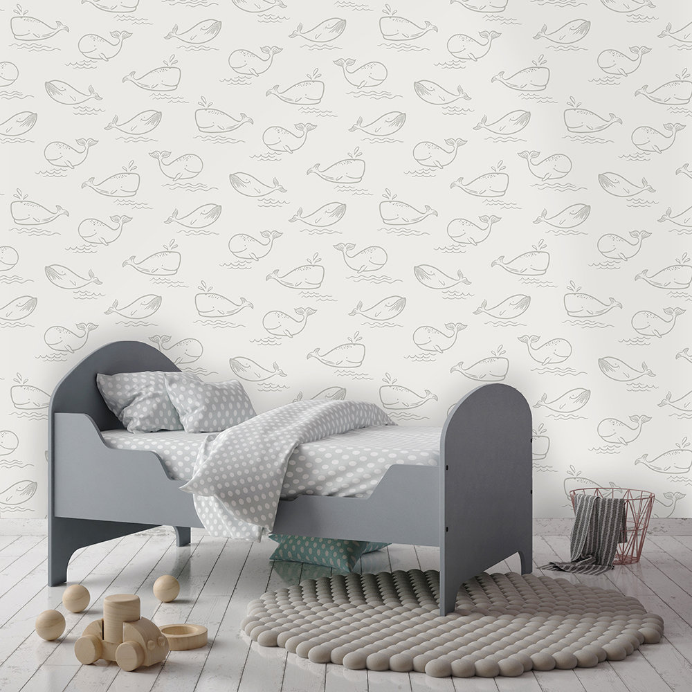 Albany Whale of a Time Grey Wallpaper - Product code: 12521