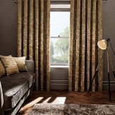Studio G Naples Eyelet Curtains Gold Ready Made Curtains