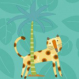 Albany Jungle Friends Teal Wallpaper
