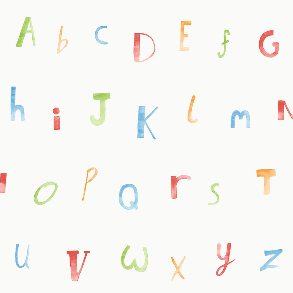 Alphabet  Wallpaper - Multi - by Albany