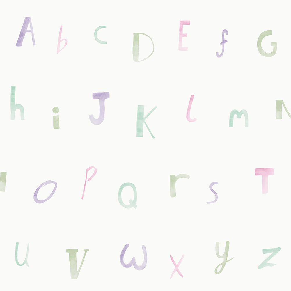 Alphabet  Wallpaper - Heather - by Albany