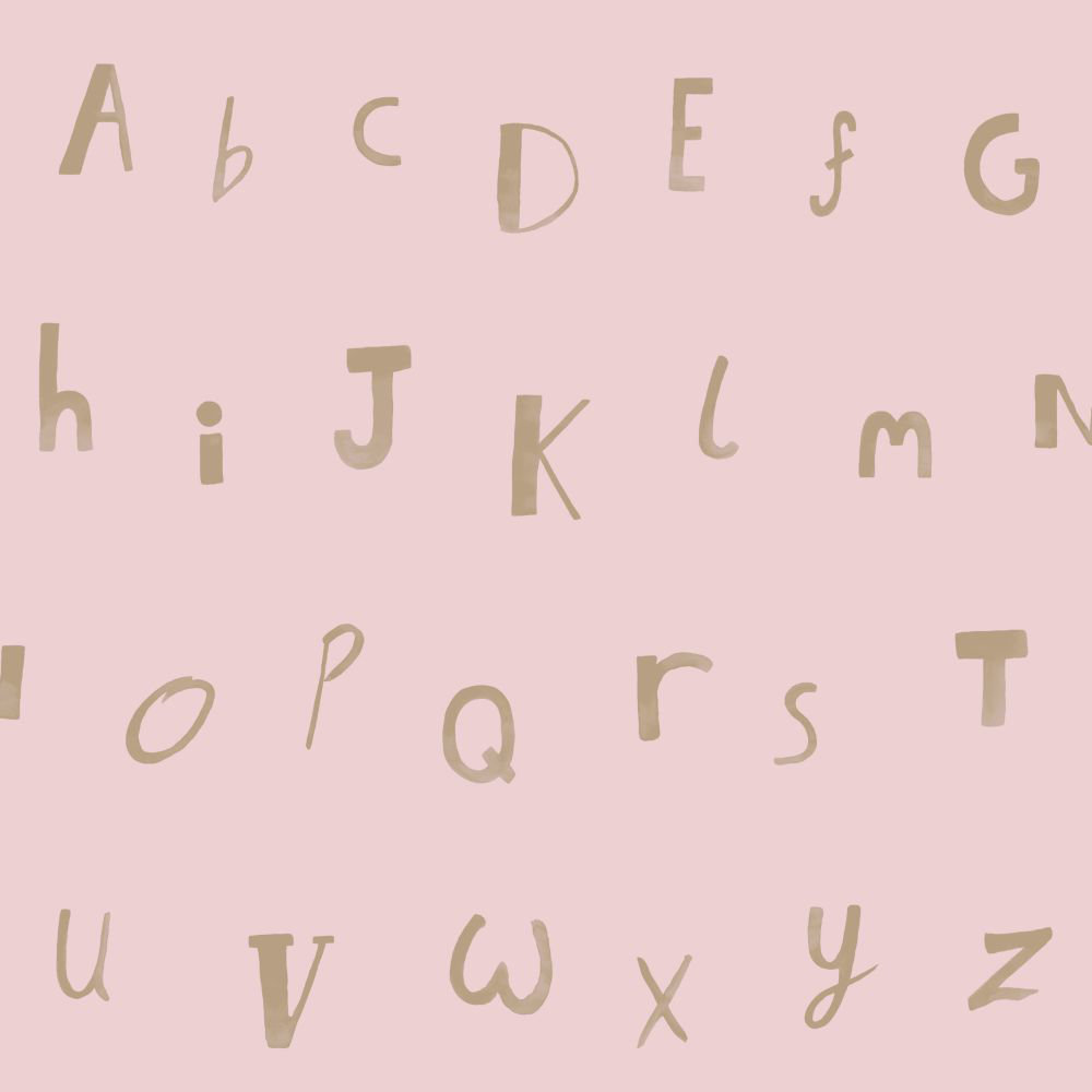 Albany Alphabet  Pink Wallpaper - Product code: 12563