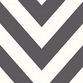 Albany Chevron Black and White Wallpaper