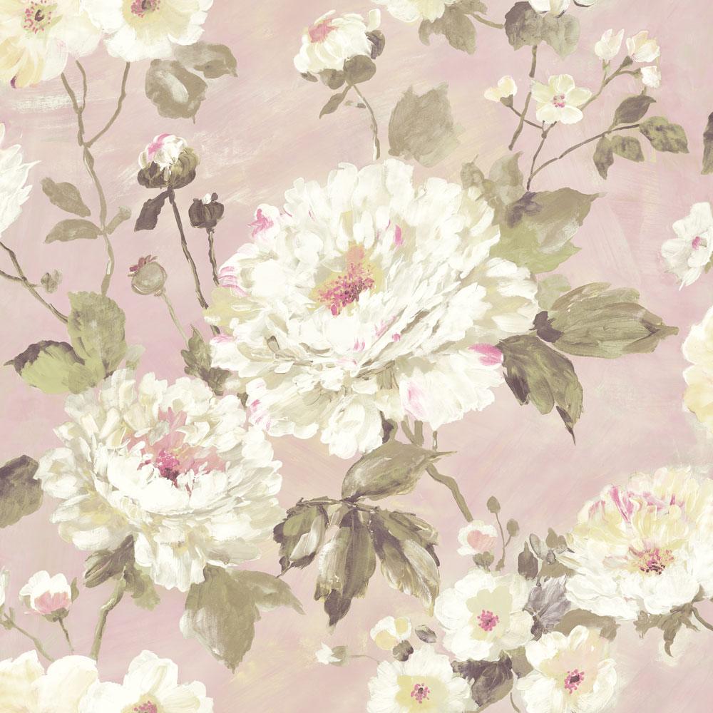 Albany Fiore Bloom Pink Wallpaper - Product code: FO3104