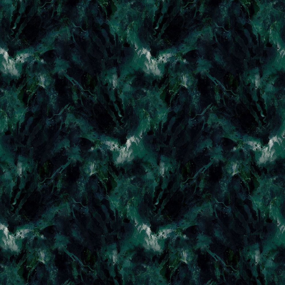 Beyond Nebulous  Wallpaper - Green Blue - by 17 Patterns
