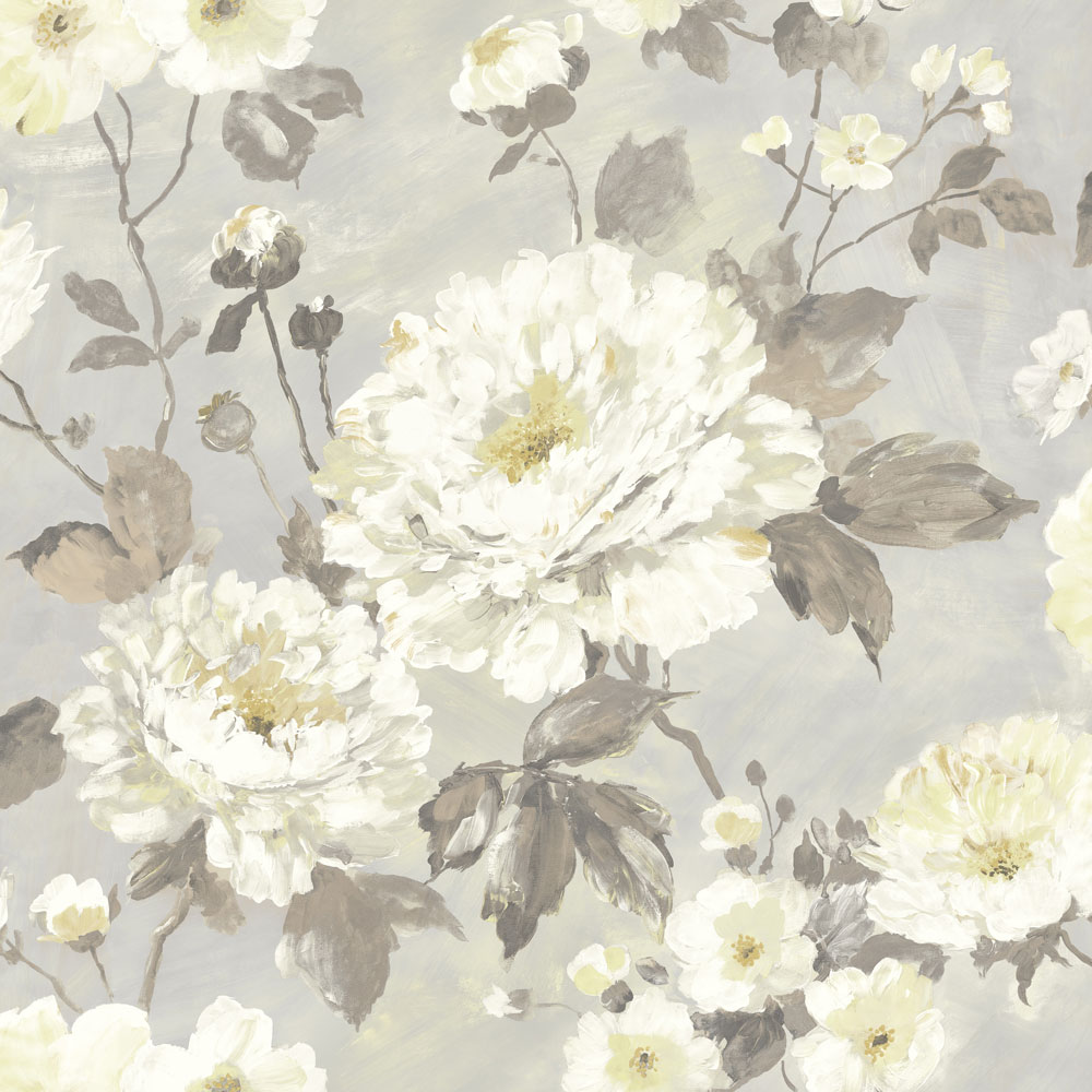 Albany Fiore Bloom Grey Wallpaper - Product code: FO3106