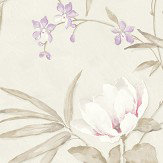 Albany Fiore Oriental Linen Wallpaper - Product code: FO3201