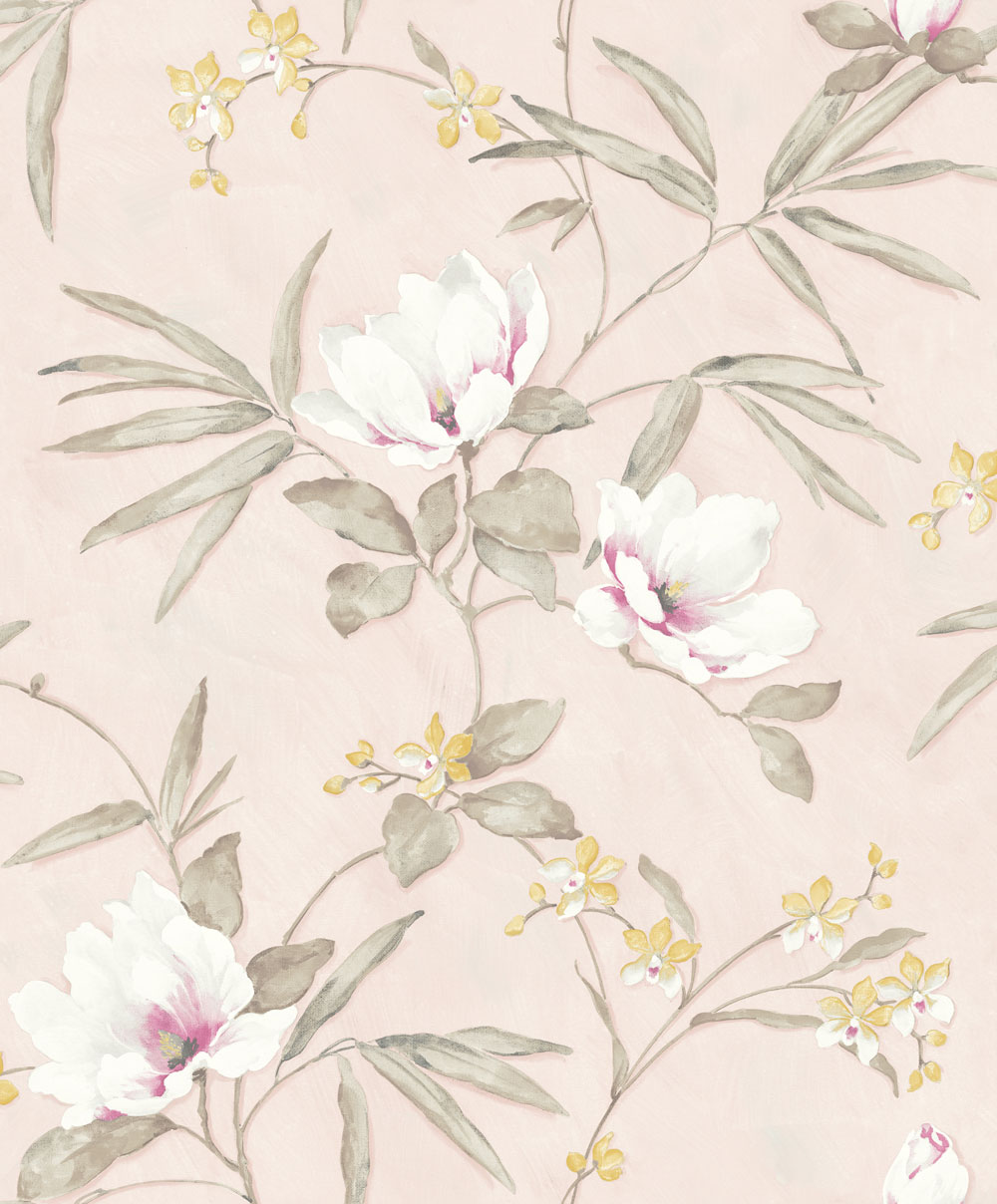 Albany Fiore Oriental Pink Wallpaper - Product code: FO3204