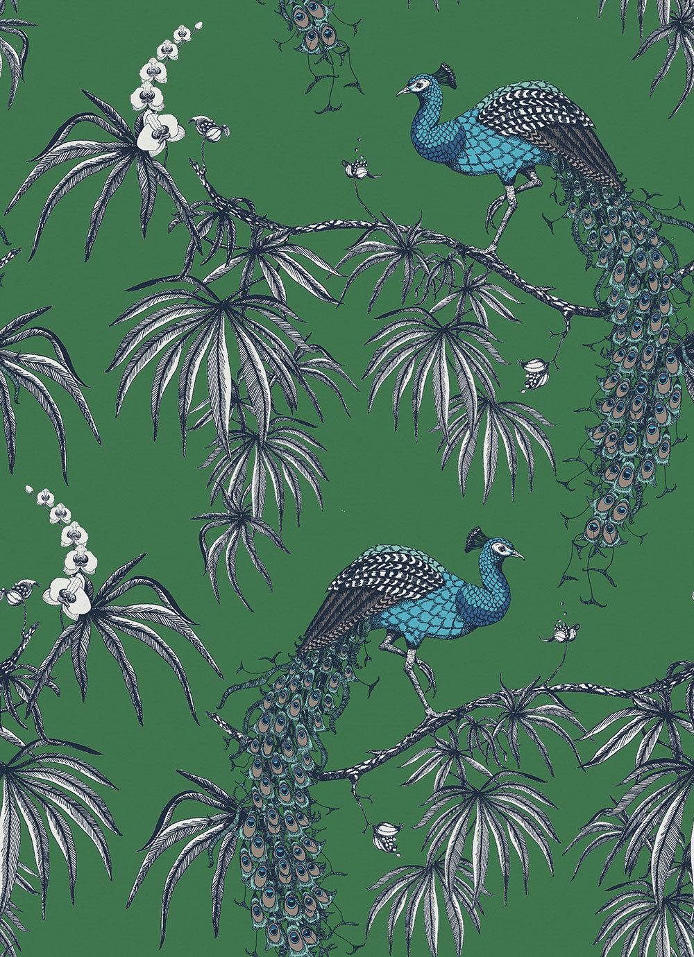 Fardis Carmen Blue / Green Wallpaper - Product code: 10884