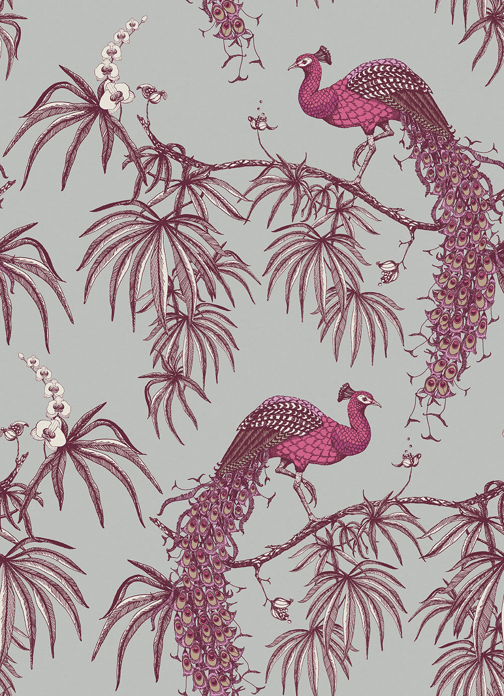 Fardis Carmen Pink / Grey Wallpaper - Product code: 10888