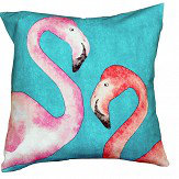 A Shade Wilder Flamingo Beach Fuchsia Cushion