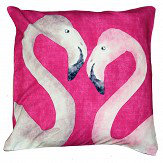 A Shade Wilder Flamingo Beach Orchid Cushion