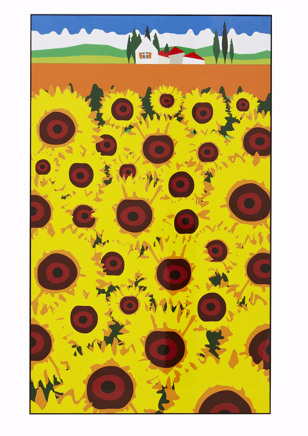 French Sunflowers Lacquer Art by A Shade Wilder - Yellow : Wallpaper ...