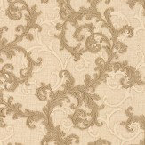 Versace Baroque & Roll Beige Wallpaper