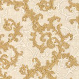 Versace Baroque & Roll Gold Wallpaper