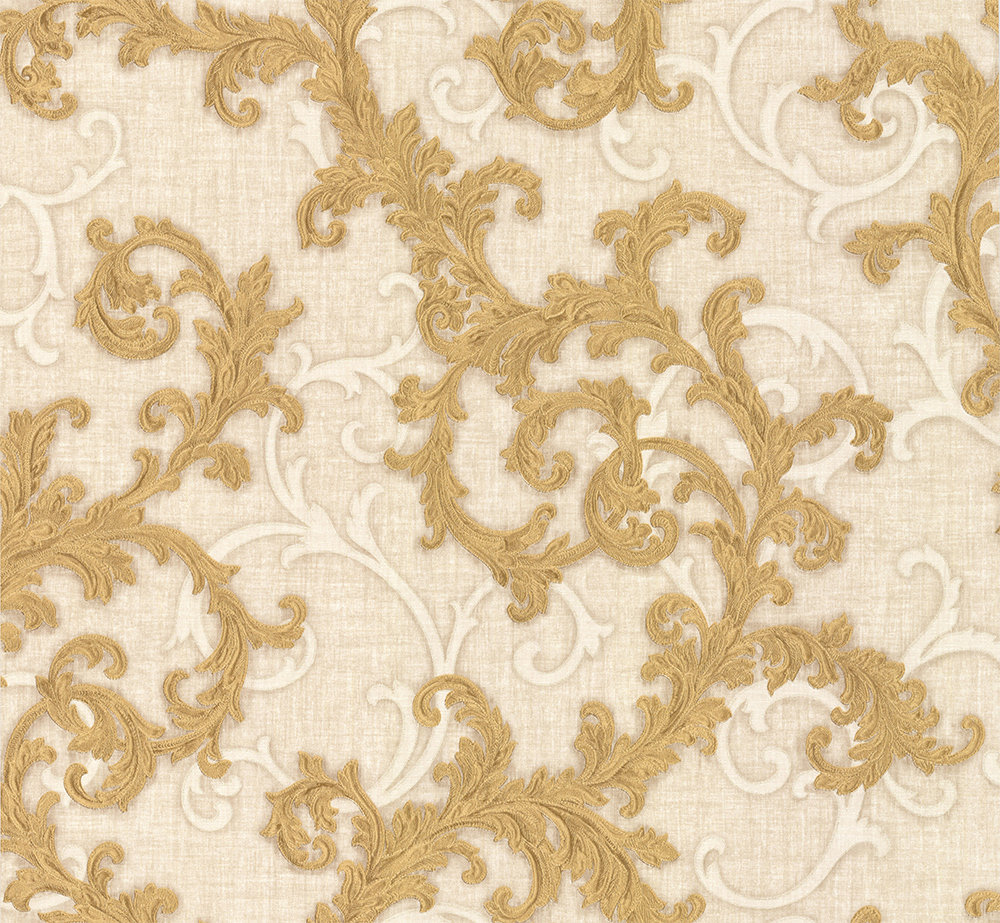 Versace Baroque & Roll Gold Wallpaper main image