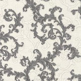 Versace Baroque & Roll Black / White Wallpaper