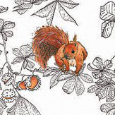 Petronella Hall Conker Snow Wallpaper