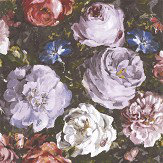 Clarke & Clarke Floretta Heather / Ebony Wallpaper