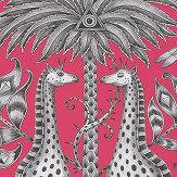 Clarke & Clarke Kruger Magenta Wallpaper