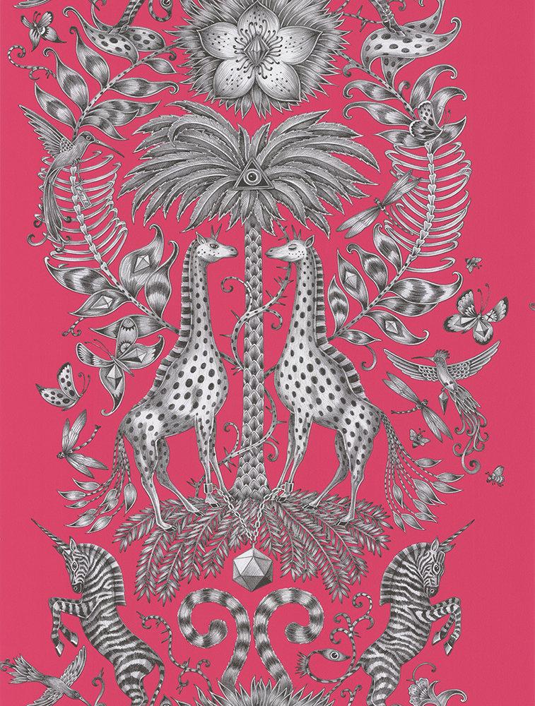 Clarke & Clarke Kruger Magenta Wallpaper extra image