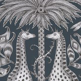 Emma J Shipley Kruger Navy Wallpaper - Product code: W0102/06