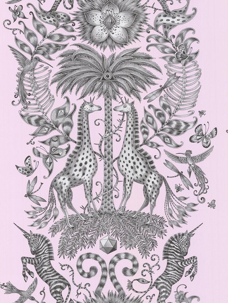 Clarke & Clarke Kruger Pink Wallpaper - Product code: W0102/07