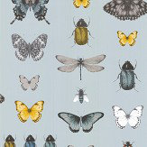 Clarke & Clarke Papilio Mineral / Gilver Wallpaper - Product code: W0094/03