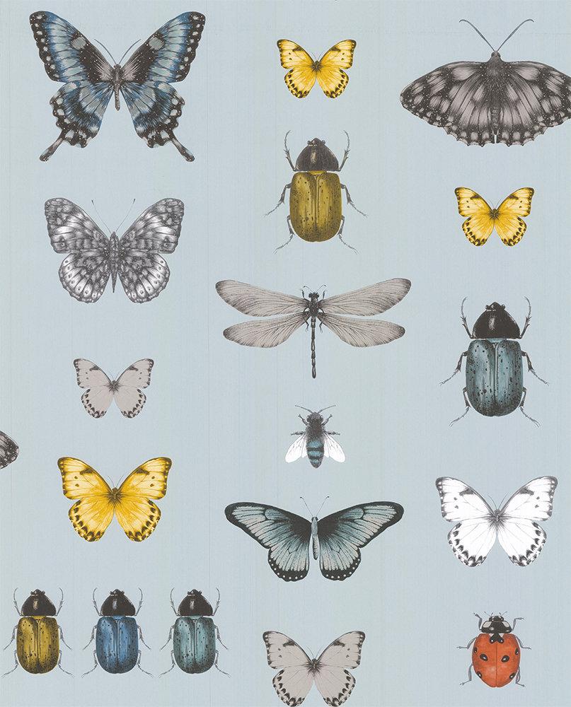 Clarke & Clarke Papilio Mineral / Gilver Wallpaper main image