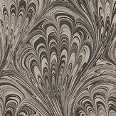 Clarke & Clarke Pavone Charcoal / Gold Wallpaper