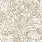 Clarke & Clarke Pavone Ivory / Gold Wallpaper - Product code: W0095/03