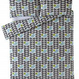 Orla Kiely Early Bird Housewife Pillowcases Pair Granite