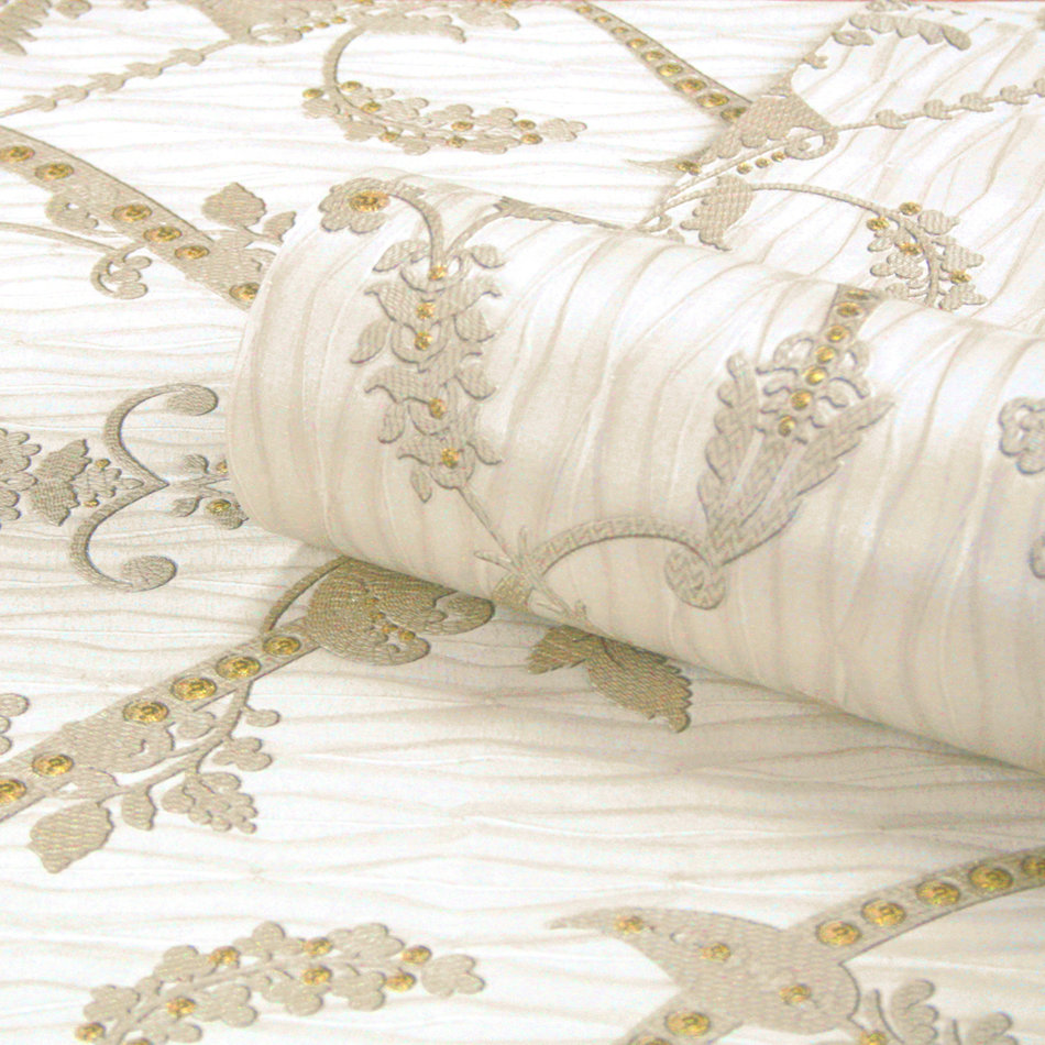 Albany Tiffany Lustre Monika Cream Wallpaper - Product code: 9362