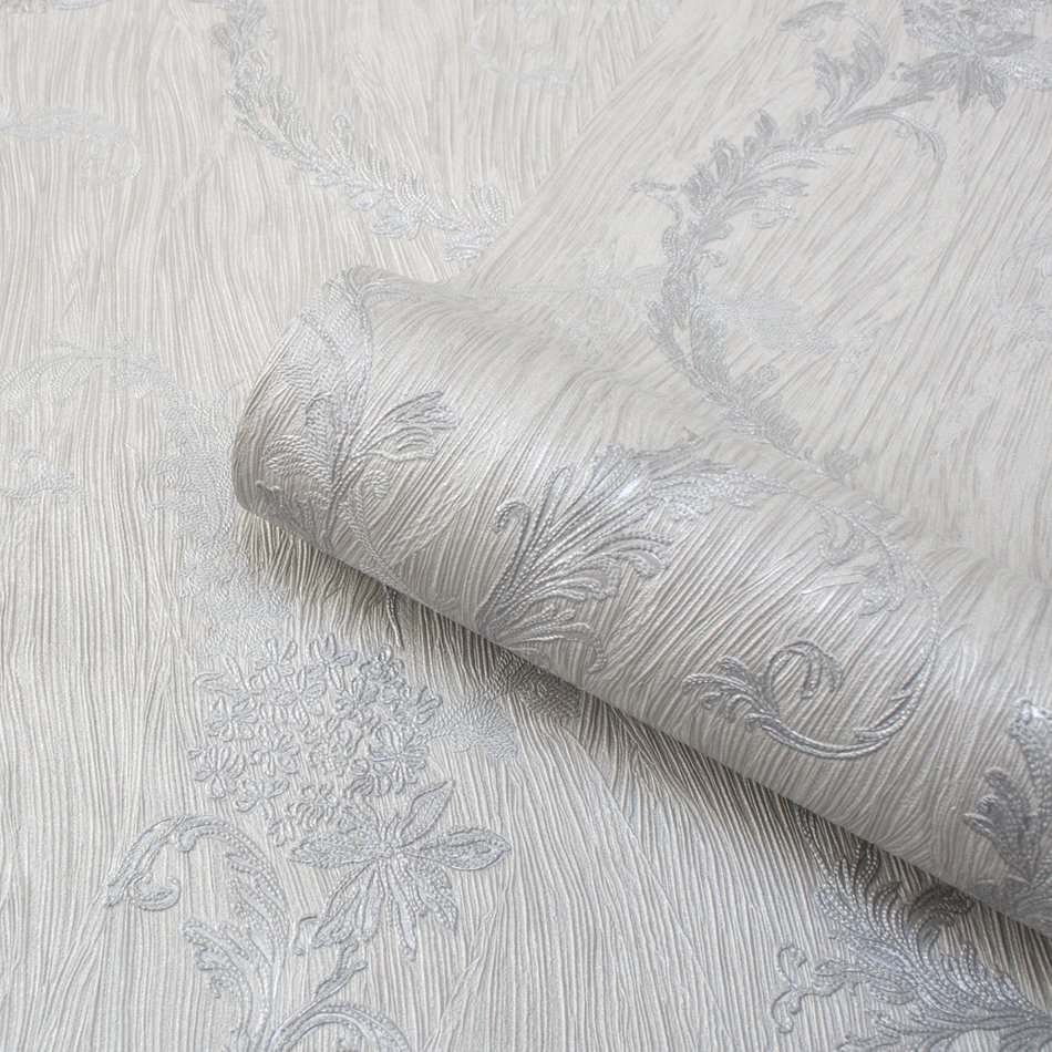 Albany Tiffany Oyster Trail Silver Wallpaper - Product code: 76004