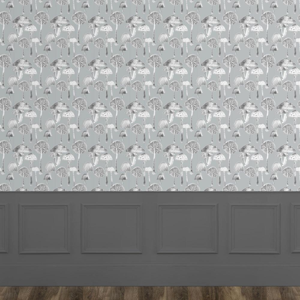 Voyage Toadstools Wallart Duck Egg Mural - Product code: WA170107