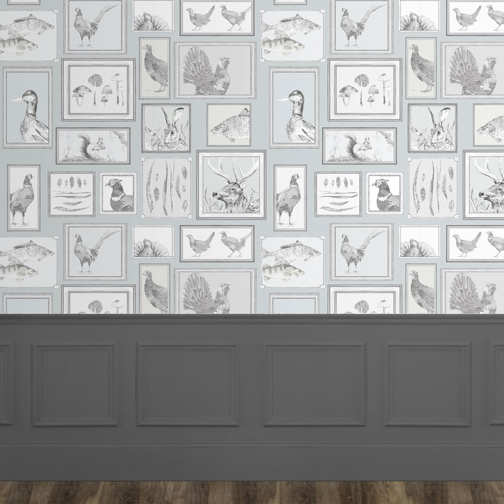 Sylva Wallart Mural - Duck Egg - by Voyage