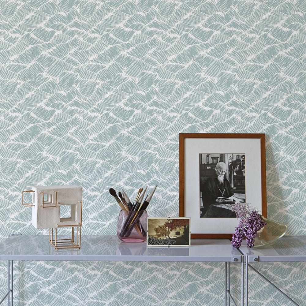 Coordonne Auguste Aqua Wallpaper - Product code: 6600002