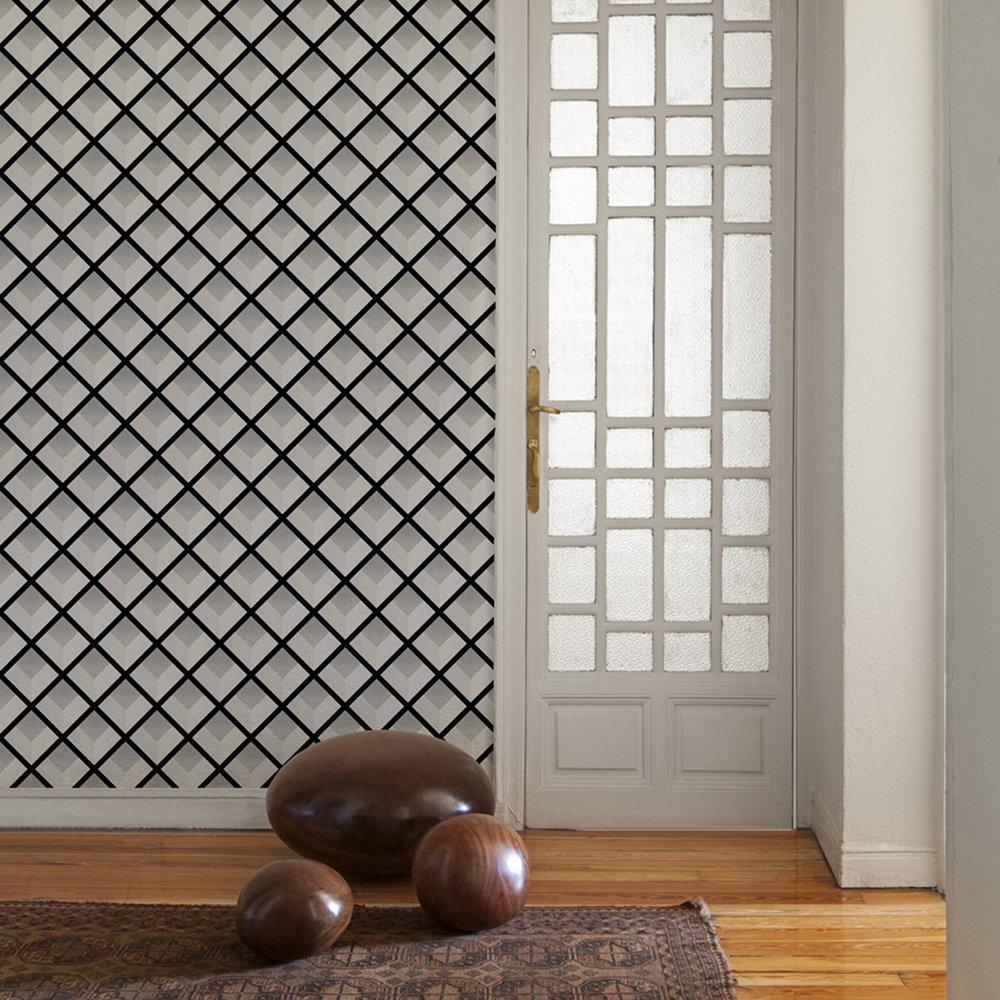Vincent Wallpaper - Silver - by Coordonne