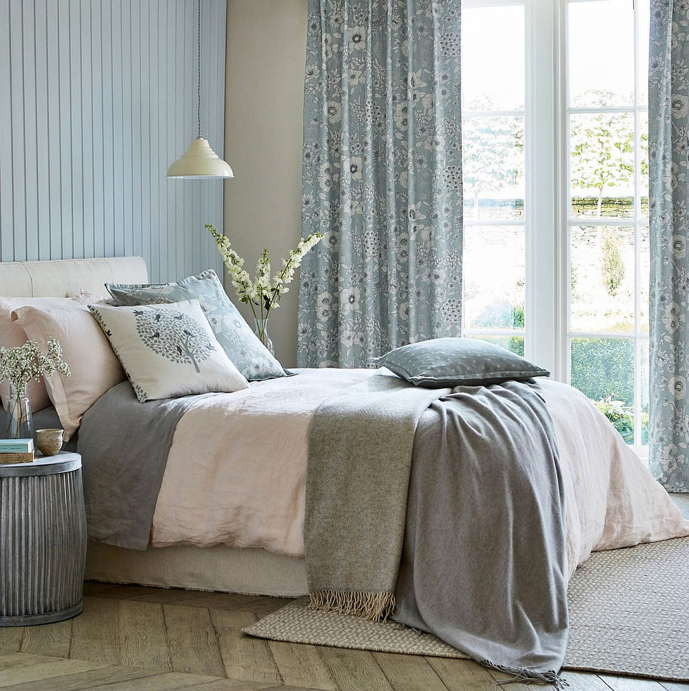 Maelee Fabric - Mineral - by Sanderson
