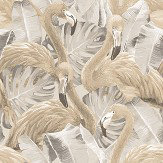 Galerie Flamingo Beige / Grey Wallpaper - Product code: G56404