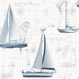 Galerie Boats Blue Wallpaper - Product code: G56420