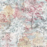 Galerie Forest Pink / Aqua / Beige / White Wallpaper - Product code: G56432