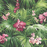 Galerie Tropical Pink / Green / Black Wallpaper - Product code: G56435