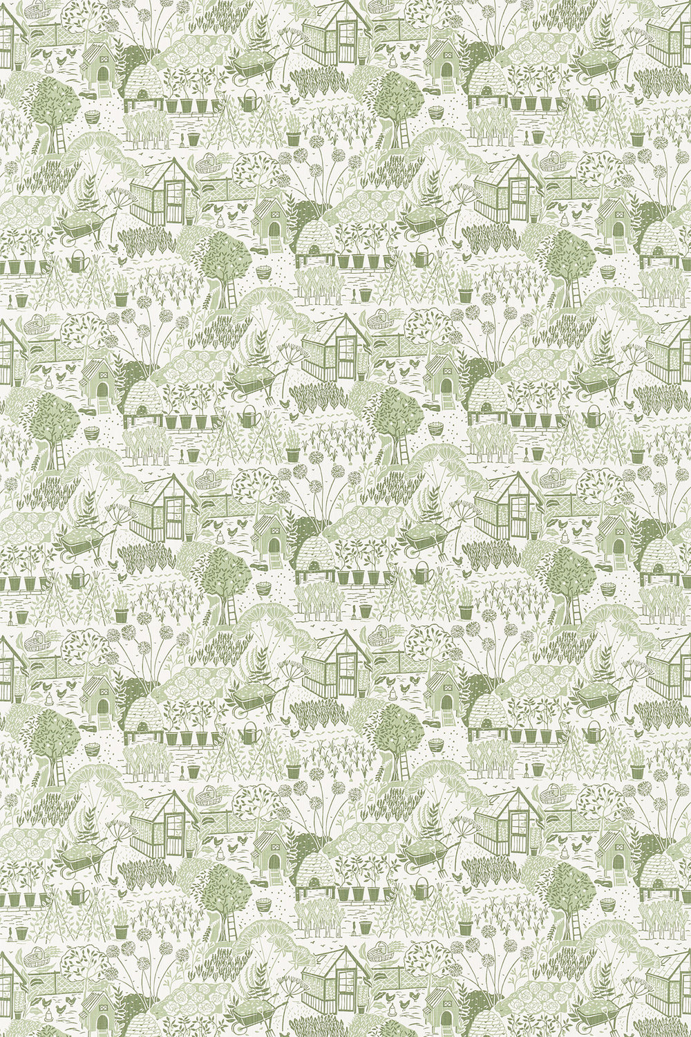 The Allotment Fabric - Fennel - by Sanderson