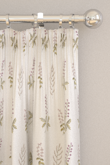 Sanderson Bilberry Celadon / Fig Curtains - Product code: 236425