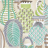 Nina Campbell Collioure Aqua / Green / Lilac Fabric